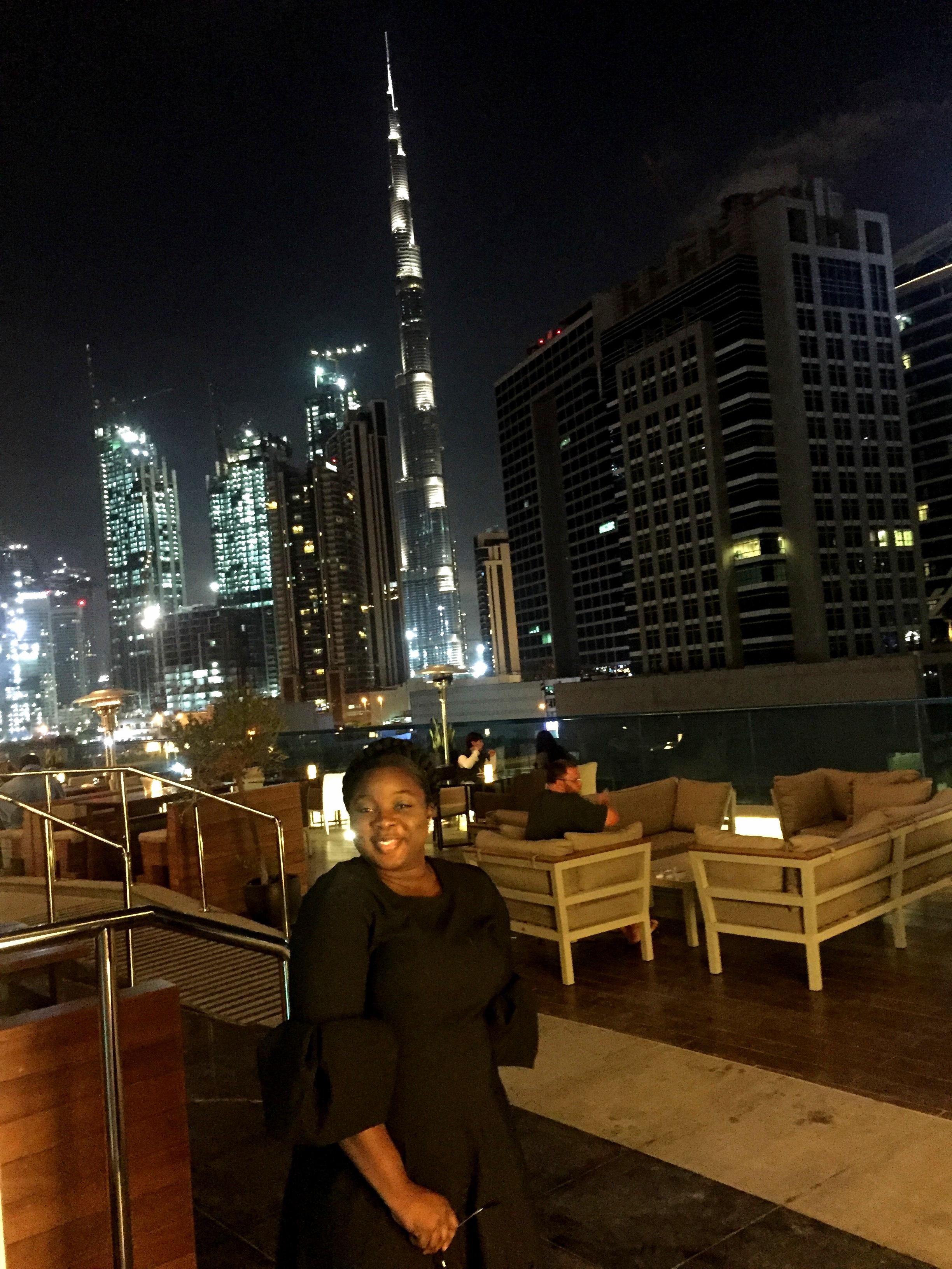 Radisson Blu Waterfront Dubai and Burj Khalifa