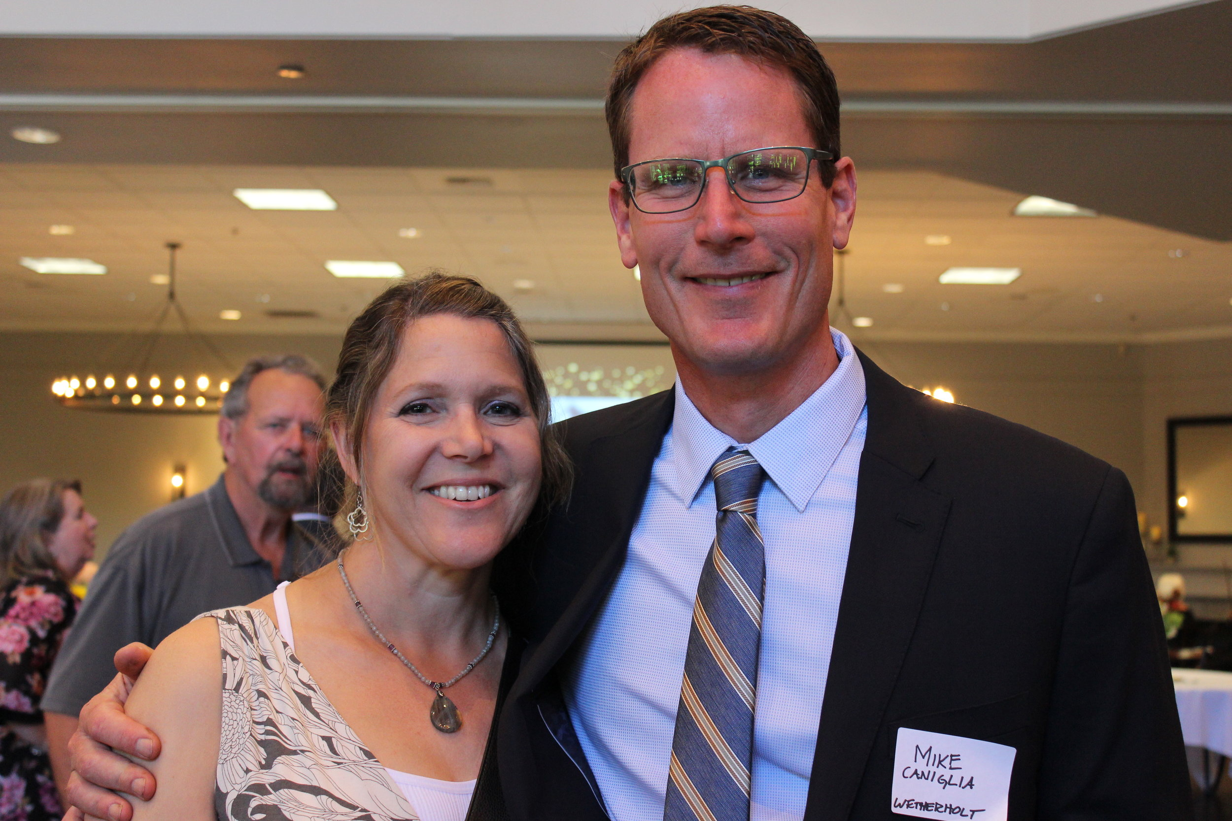 Wetherholt Principal, Mike Caniglia, with his wife, Lauri