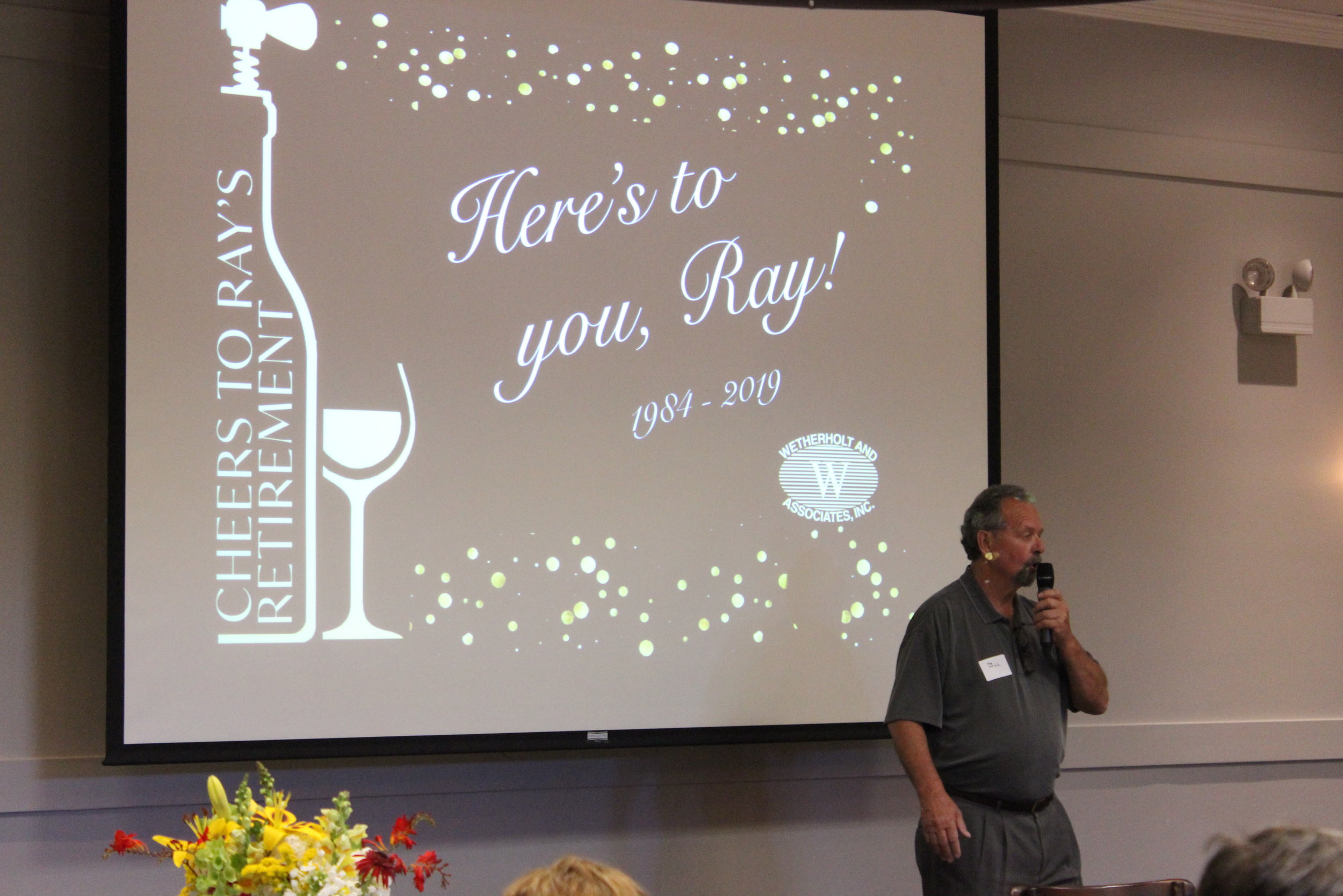 Retired Wetherholt Principal, Bill Cypher, shares about working with Ray