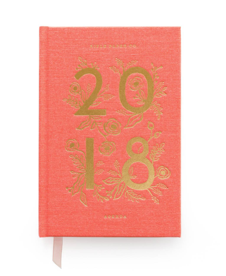 Rifle Paper Co. 2018 Agenda, $30   Riflepaperco.com