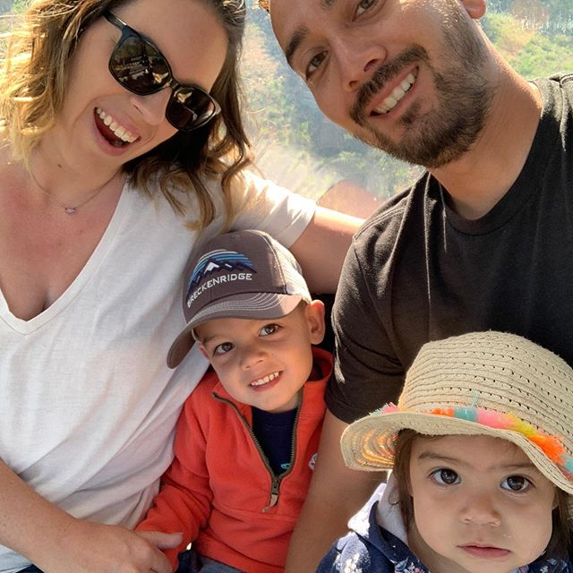 Relaxing vacay in Breck! Getting a good pic of the 4 of us is practically impossible 😂