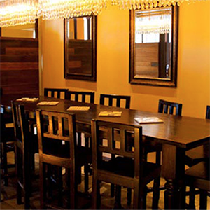 CHEF'S TABLE  Up to 12 seated   12 reception Ideal for intimate gatherings & private parties