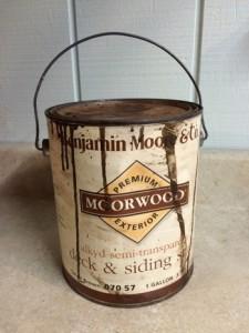 One Room Challenge-Week 2- Shed Makeover Progress vintage benjamin moore paint can