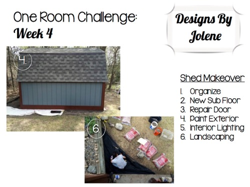 One Room Challenge-Week 4- Shed Makeover Updates