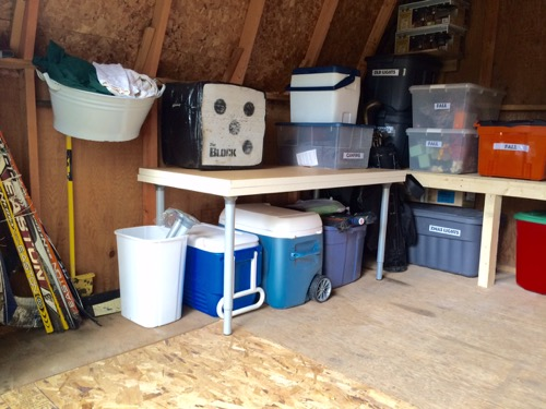 One Room Challenge: Week 5 Shed Makeover 2 Organizing the shed