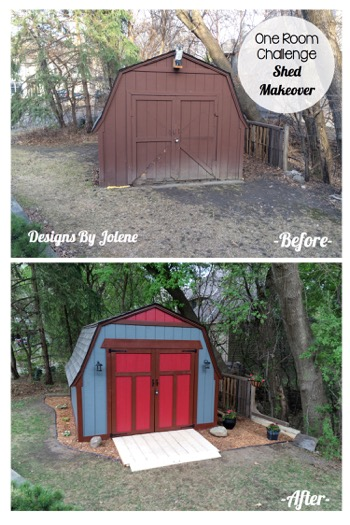 One Room Challenge-Week 6- Before After Shed Makeover I