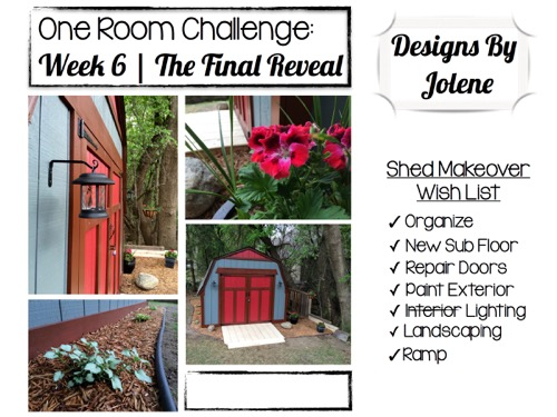 One Room Challenge: Week 6 Shed Makeover | The Final Reveal 14