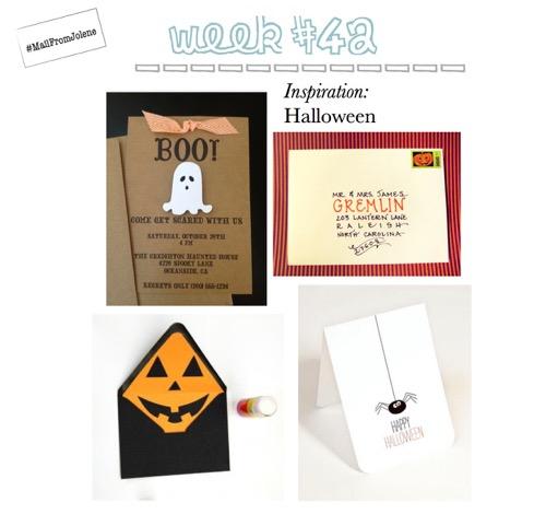 52 Weeks Of Mail-Week 42 Inspiration Halloween
