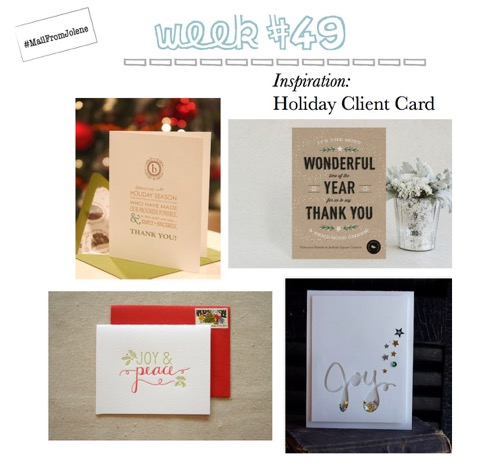 52 Weeks Of Mail-Week 49 Inspiration Client Holiday Card