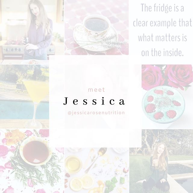 INTRODUCTIONS // Allow me to introduce you to @jessicarosenutrition. Jessica is a holistic practitioner and skincare formulator with a passion for helping others live a full, healthy lifestyle 🌿 Her posts and stories include clean beauty favorites, DIY skincare tips, delicious recipes and easy meal plans, how-to's on living more intentionally and much more. She's also one of the sweetest and most positive people you'll ever meet 💛. I invite you to stop by her Instagram feed and say 🙋🏻‍♀️