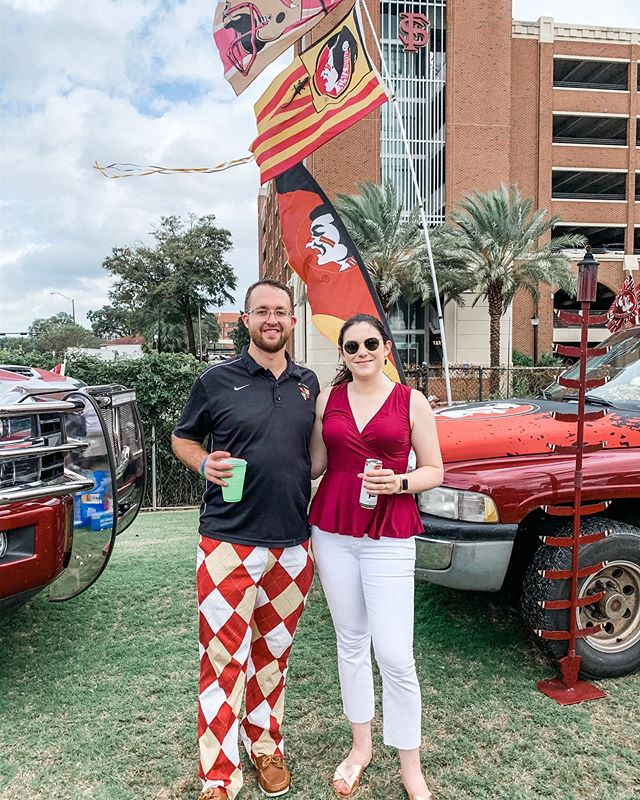 He's been waiting to wear these pants all year. #letsgonoles