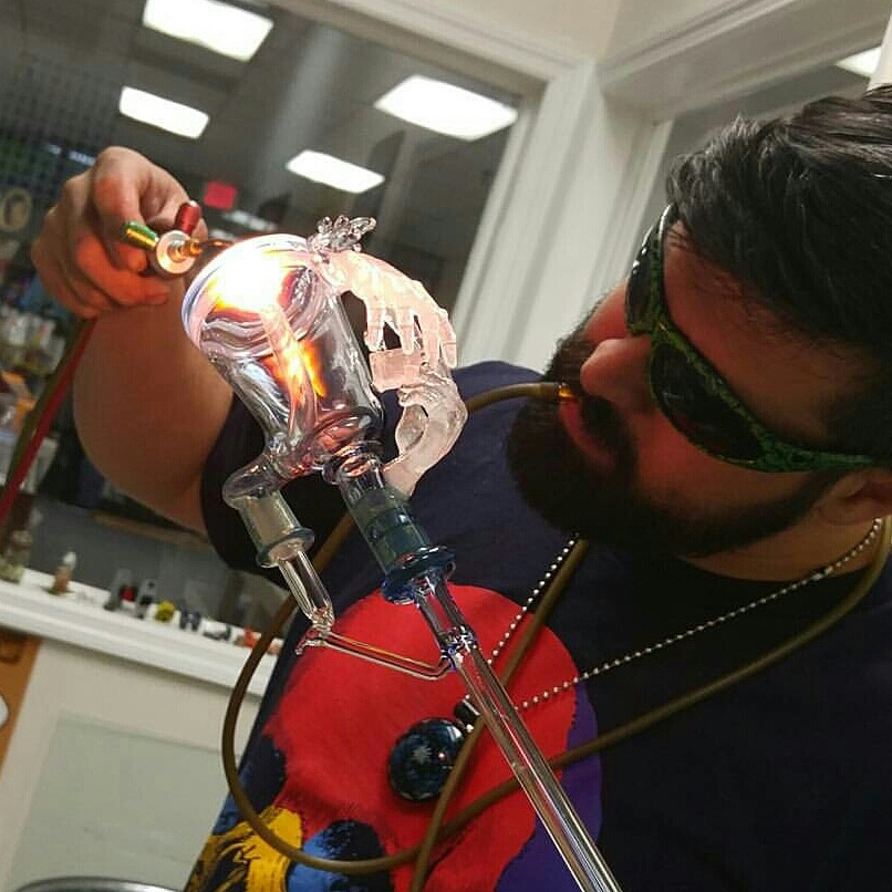 Me working on a piece at Lifted Designs in Jacksonville, Florida.