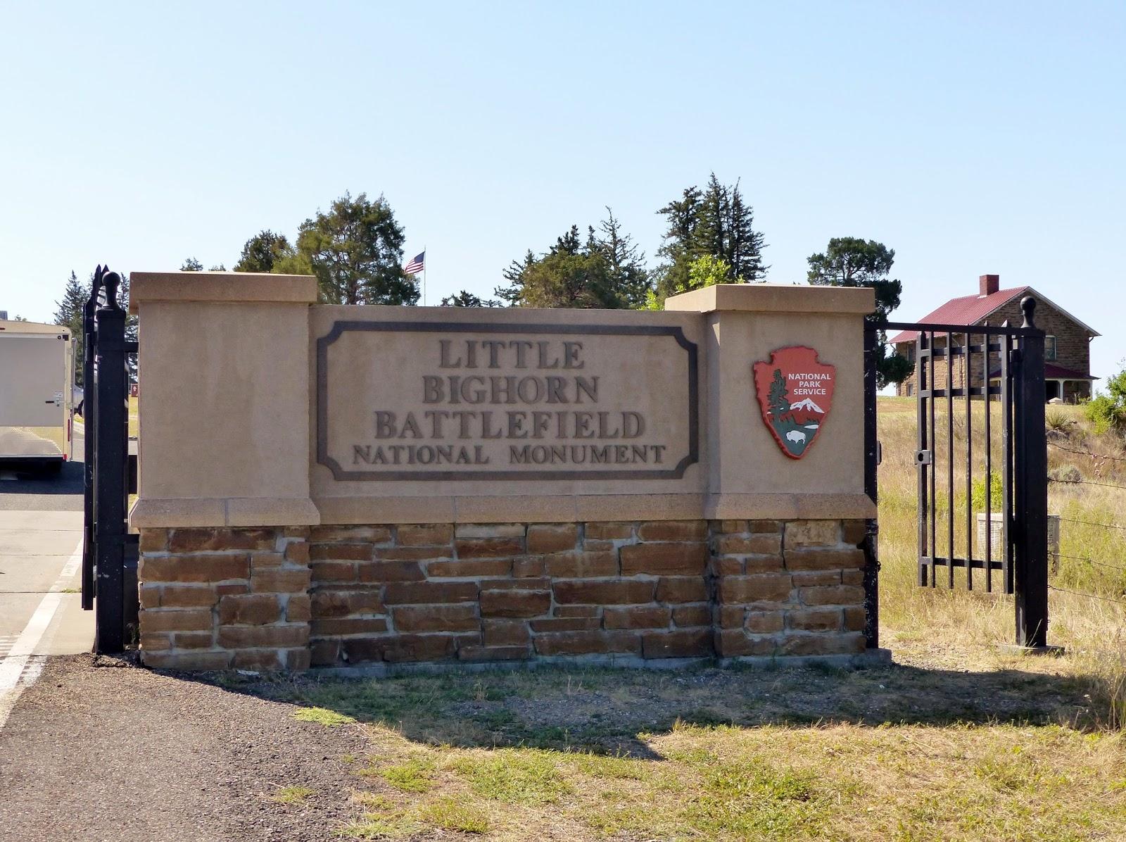 Entrance to the Little Bighorn Battlefield