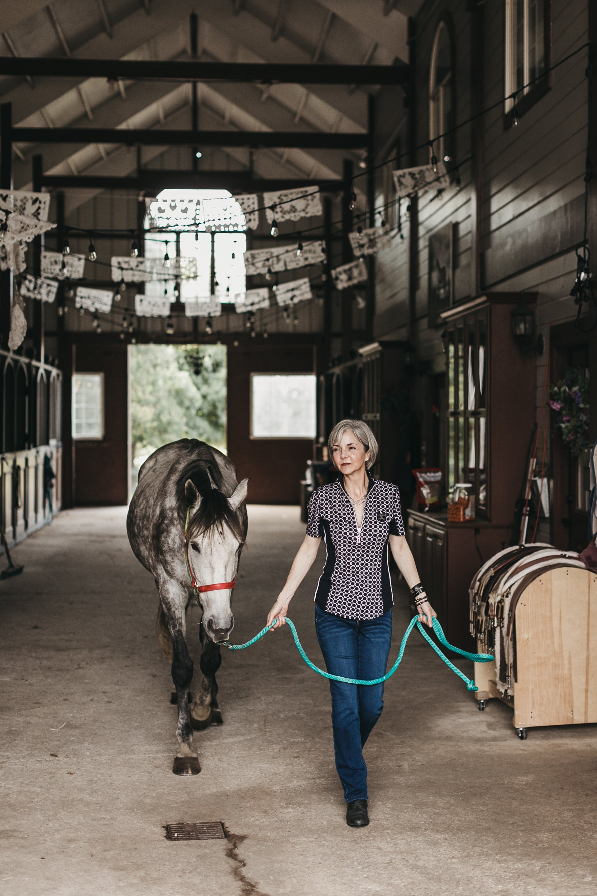 Elise Gaston Chand with Frannie.  Photo by Jillian Zamora Photography , location: Twisted Oak Manor