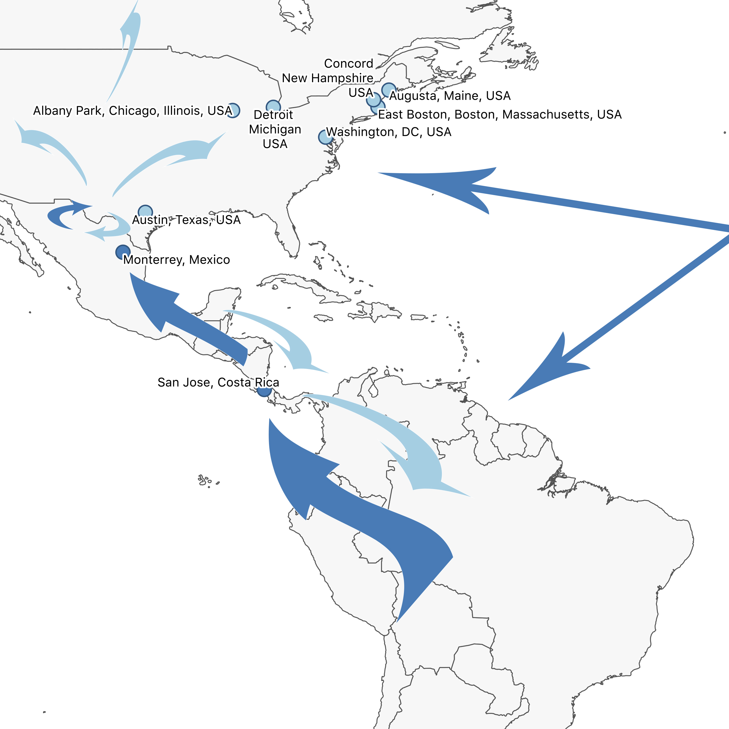 The Americas Route