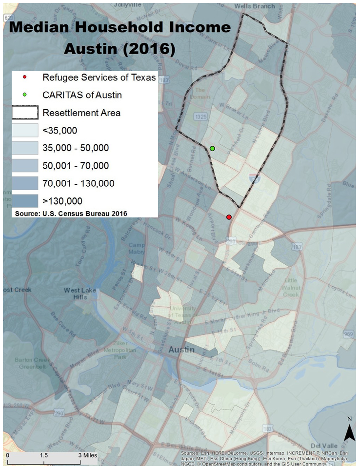 Median Household Income Austin