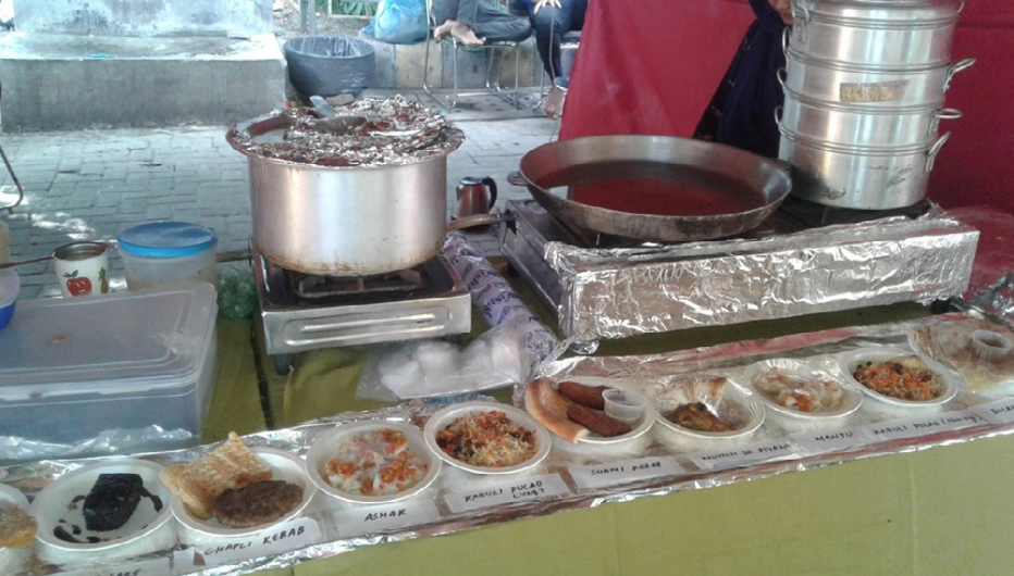 The ILHAM stall at a food court. Photo by author.