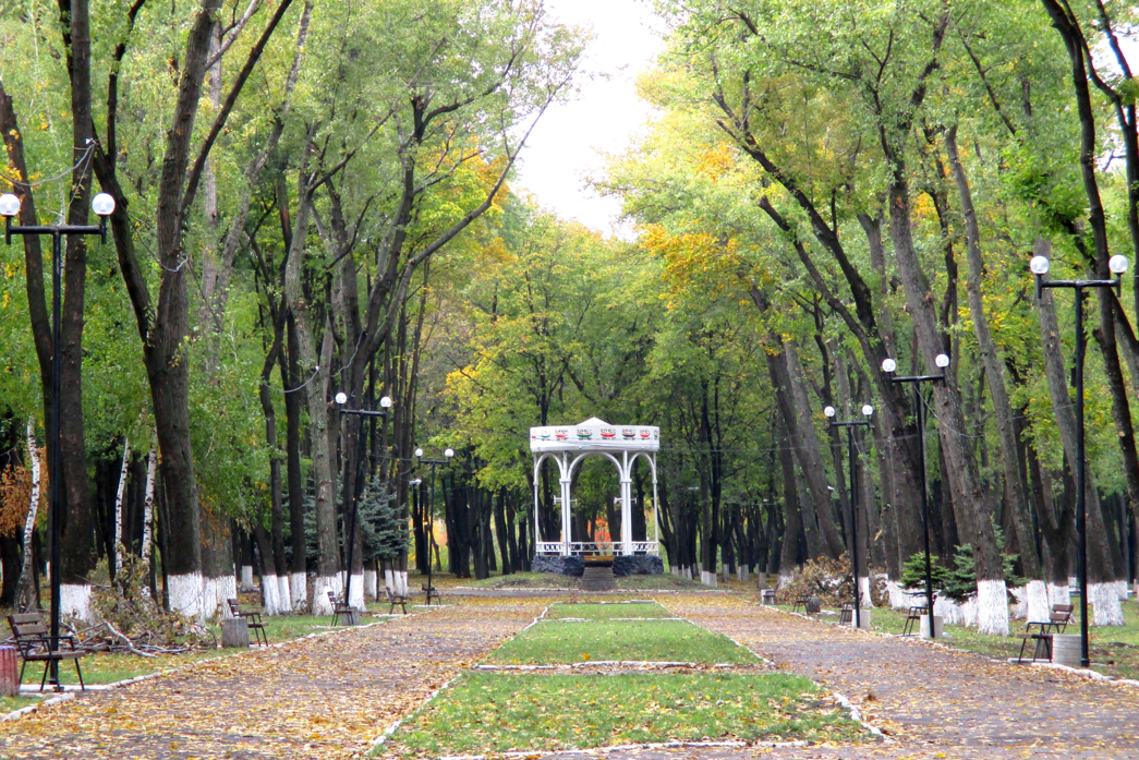 Public park in Pokrovsk. Photo by Kateryna Shcherbakova, 2018.