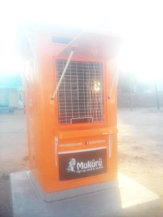 A Mukuru payment booth in Mangochi where migrants receive funds sent from South Africa.