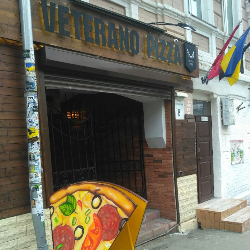 "A ""social pizzeria"" in Kyiv. Photo by Yuliia Kabanets."