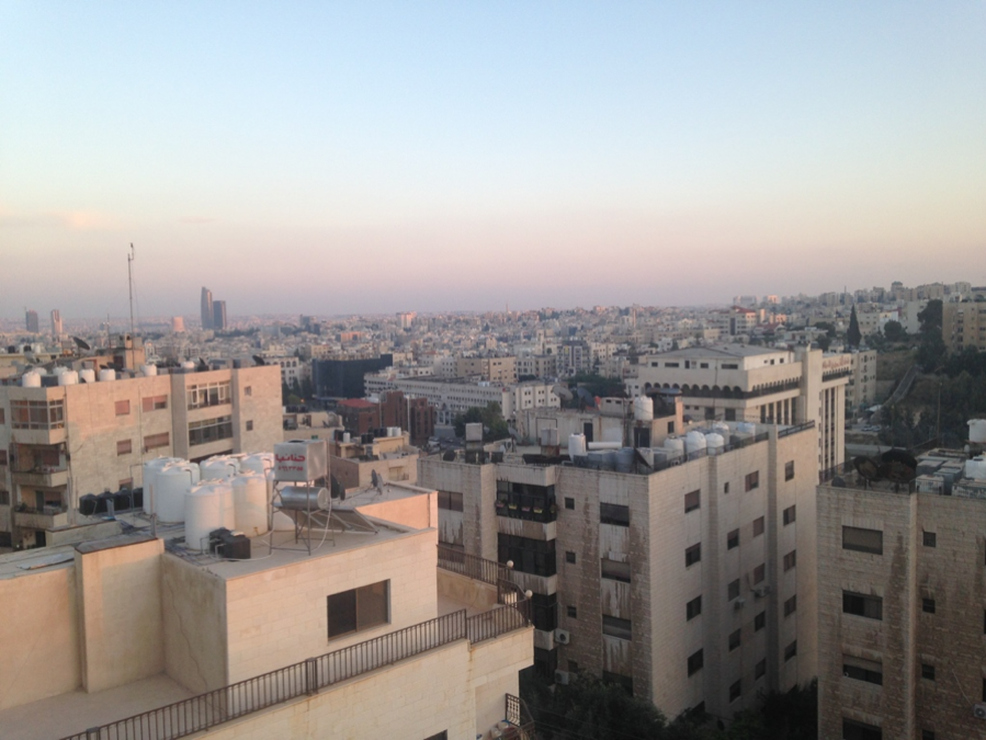 View of Amman from apartment rooftop.