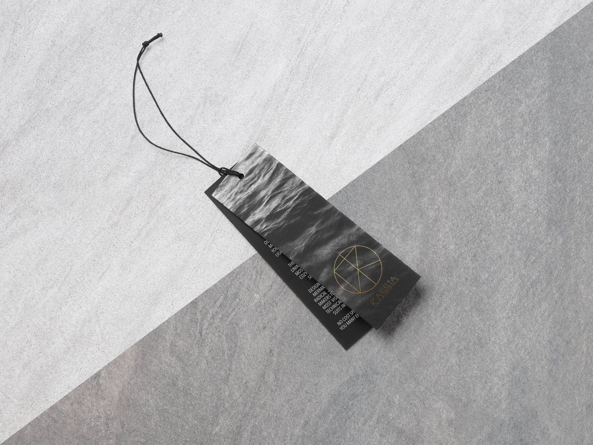 Packaging: Hang Tags.