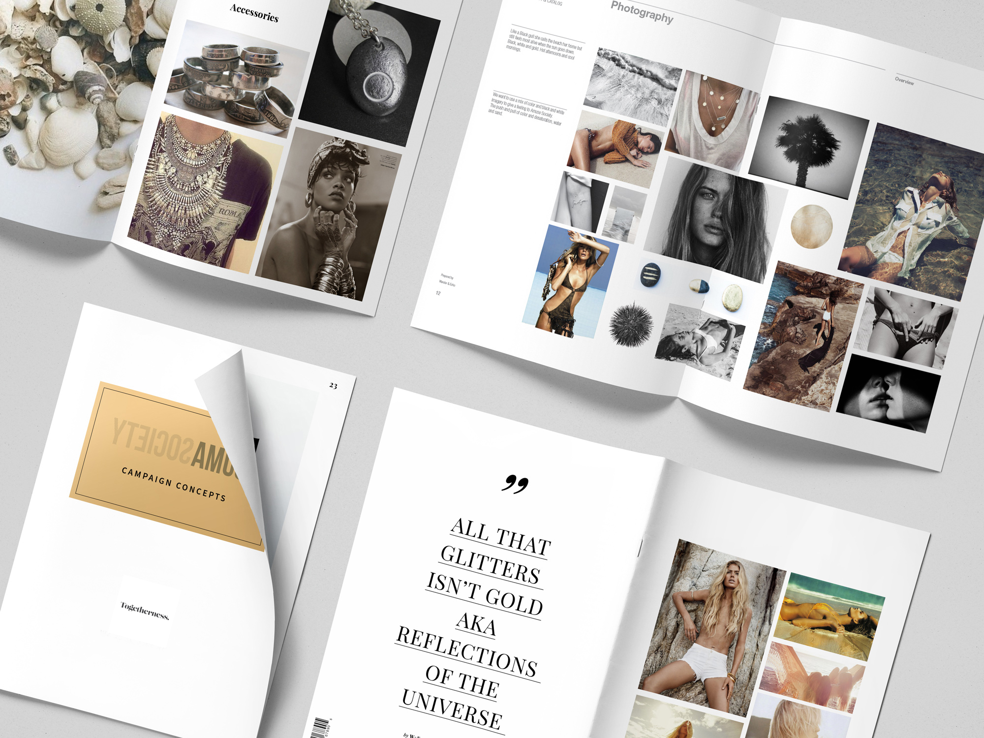 Photo and Video Campaign Concept book.