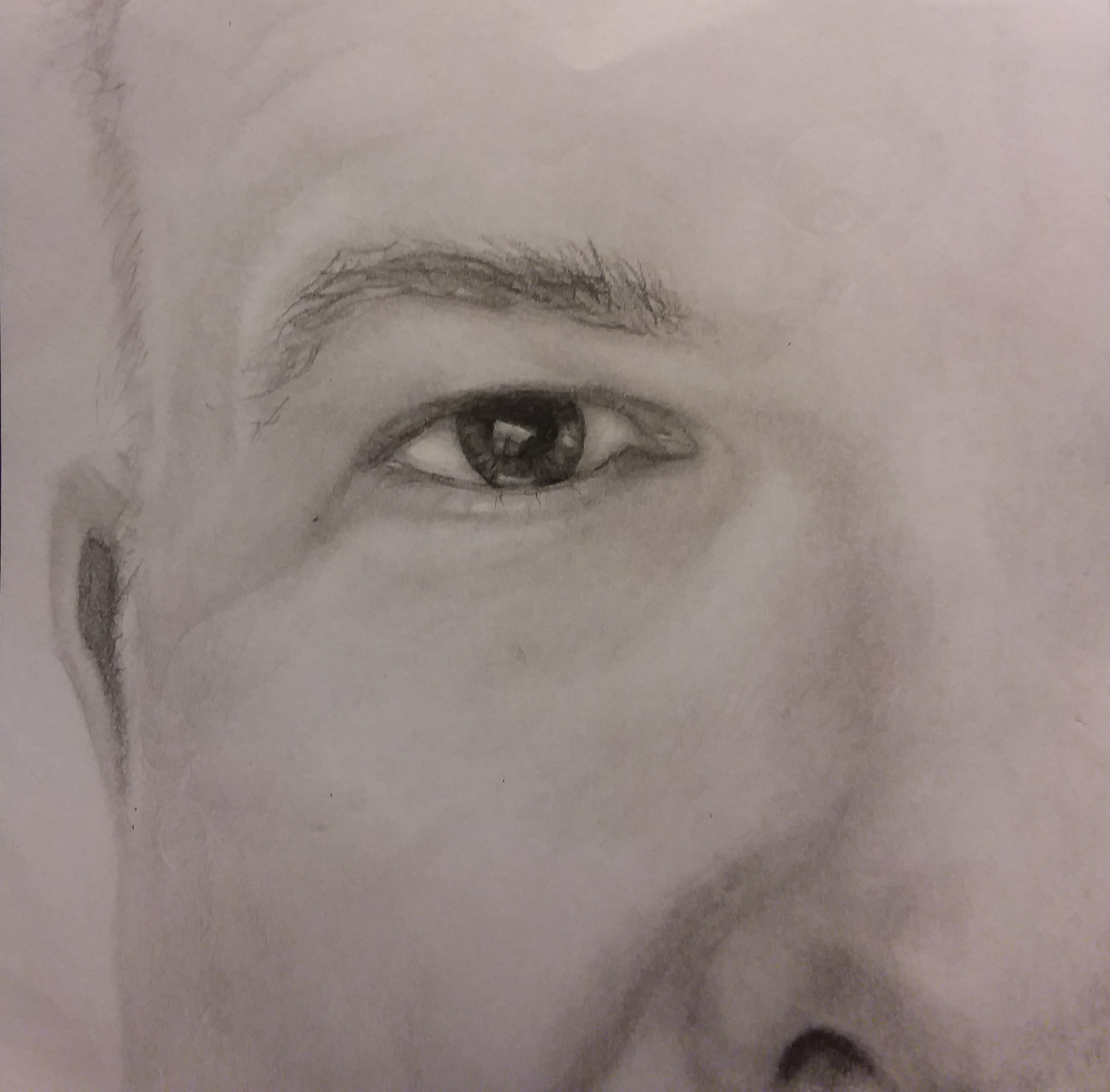 My husband, Greg, pencil