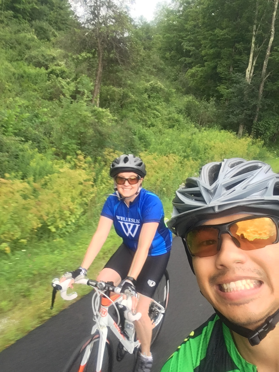 training ride in Vermont