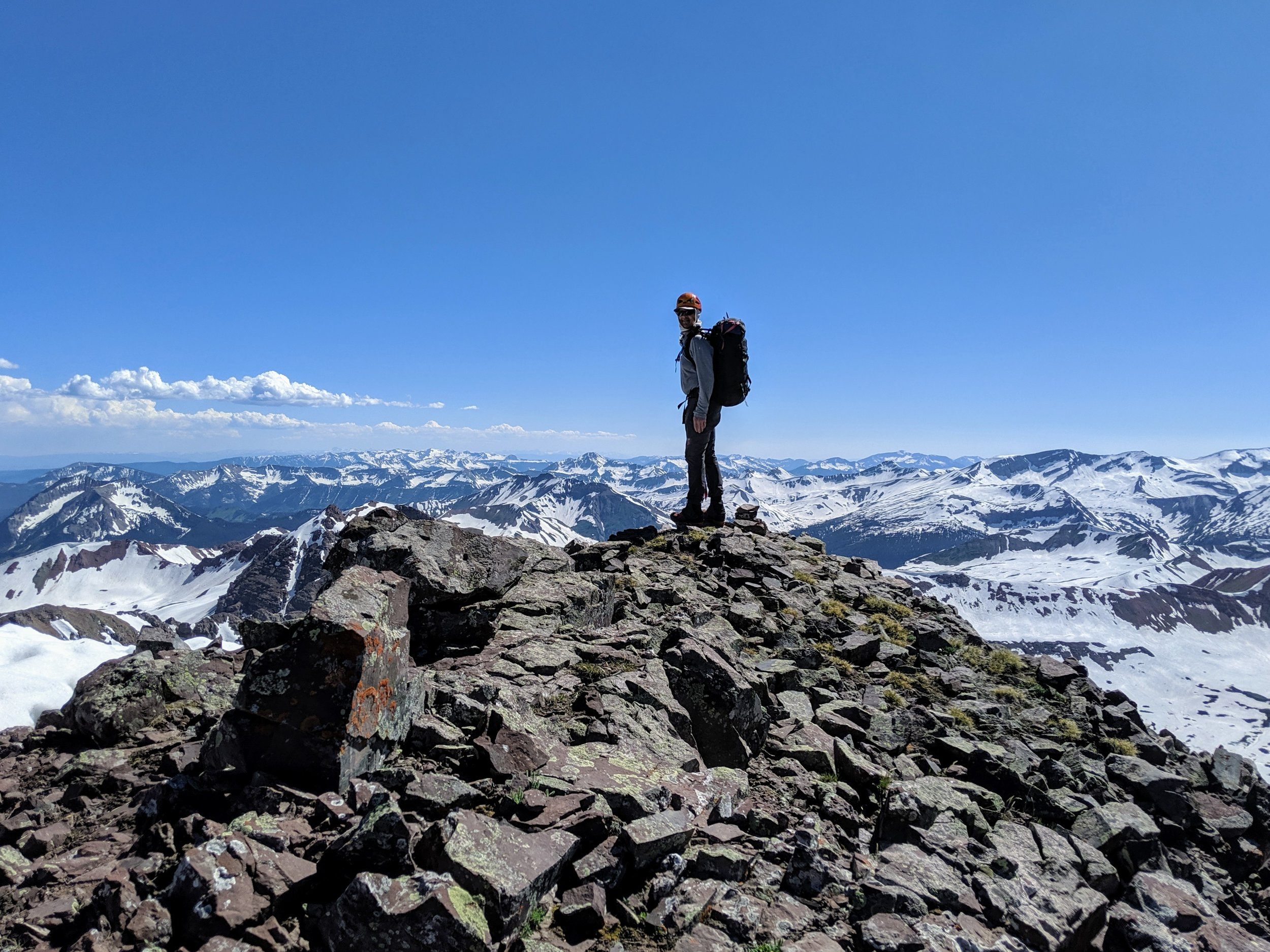 Unknown ridge line point overlooking some cool mountain ranges.