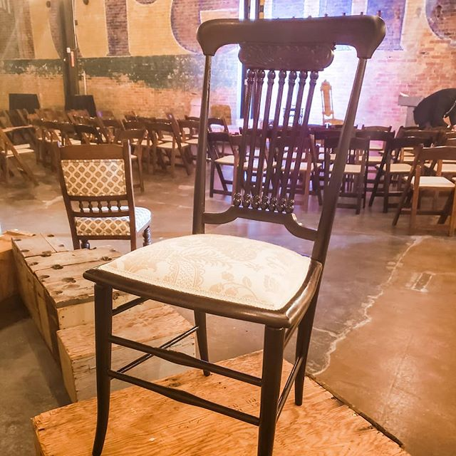 Walking away from Charitable Chair with this showstopper! 😱 It's so great to see what the up-and-coming students at #wsuinteriordesign program are putting out. This is an original Victorian Era chair dating back to 1840, a true antique!  For those who don't know, Chairtable Chair is an event put on annually by the program up where students are asked to refinish and reupholster antique chairs that are then auctioned off for charity. This year all of the proceeds went to @ccsut I did this event for two years as a student and it feels so good to come back and bid to raise money for our local community 💕  Now I just need to decide where to put it 😁  #charity #utahdesigner #wsu #beutahful #antique #antiquehome #oldfurniture #showmeyourstyled #interiordesign #mybhg #interiorstyle #howyouhome #thelighthome #raisingmoneyforcharity #raisingmoney #utahinteriordesigner #victorianera #antiquelove #trueantique #reupholstery #reupholstered #antique_r_us #interiordecor