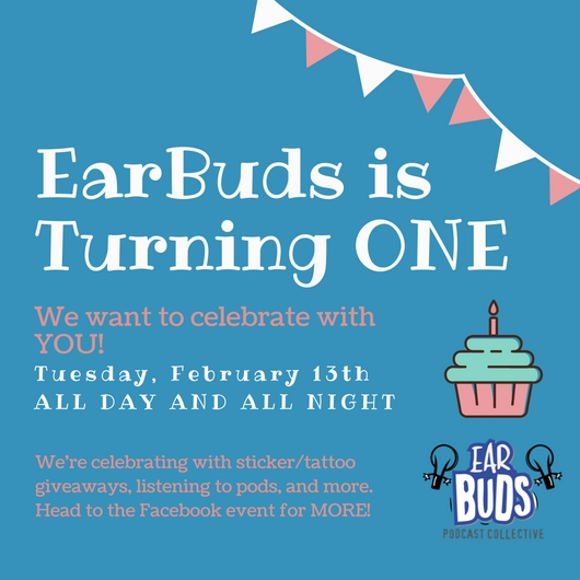 THANK YOU. - You were one of the first EarBuddies (you early-adopter, you)! We're so happy you've been with us for almost a year. We're celebrating our milestone with an online celebration. Hope you can make it!