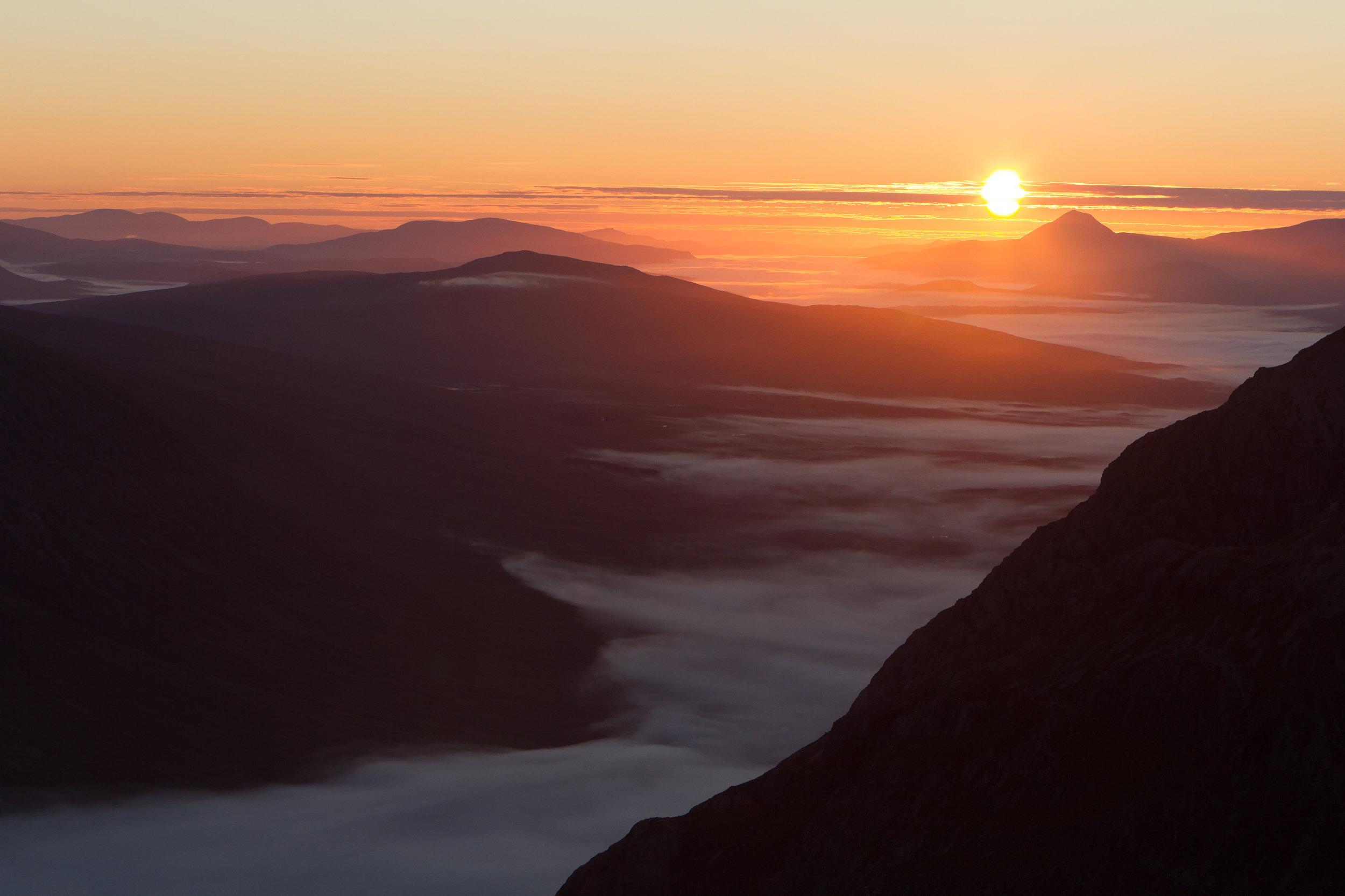© Jason Baxter Media - Sunrise over Buchaille Etive Mor