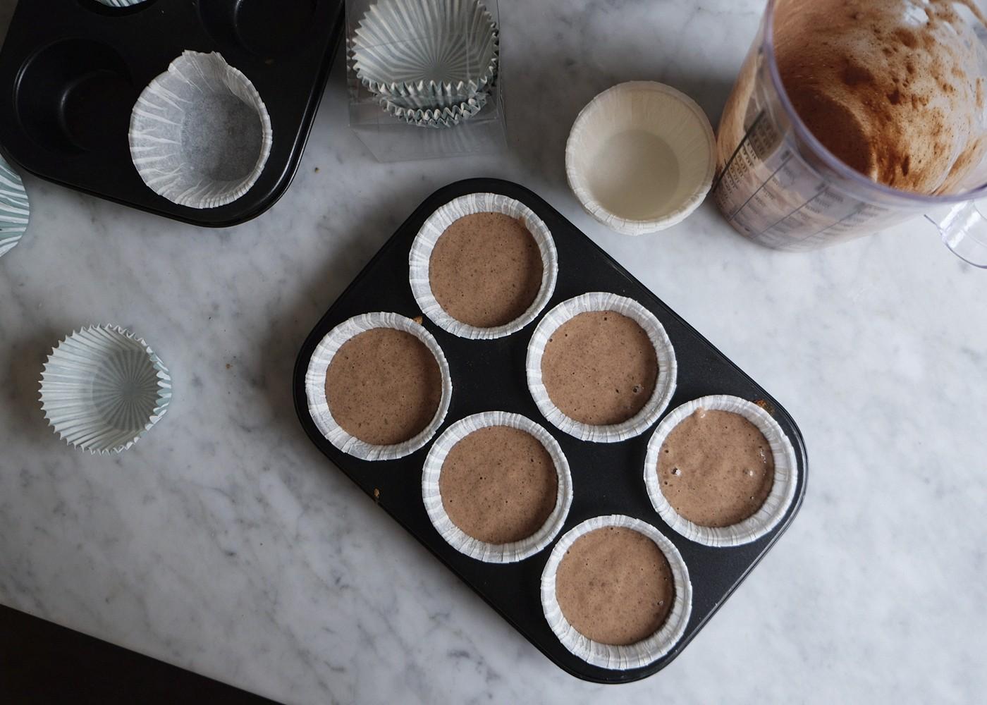 hälsosamma chokladmuffins för vuxna och barn