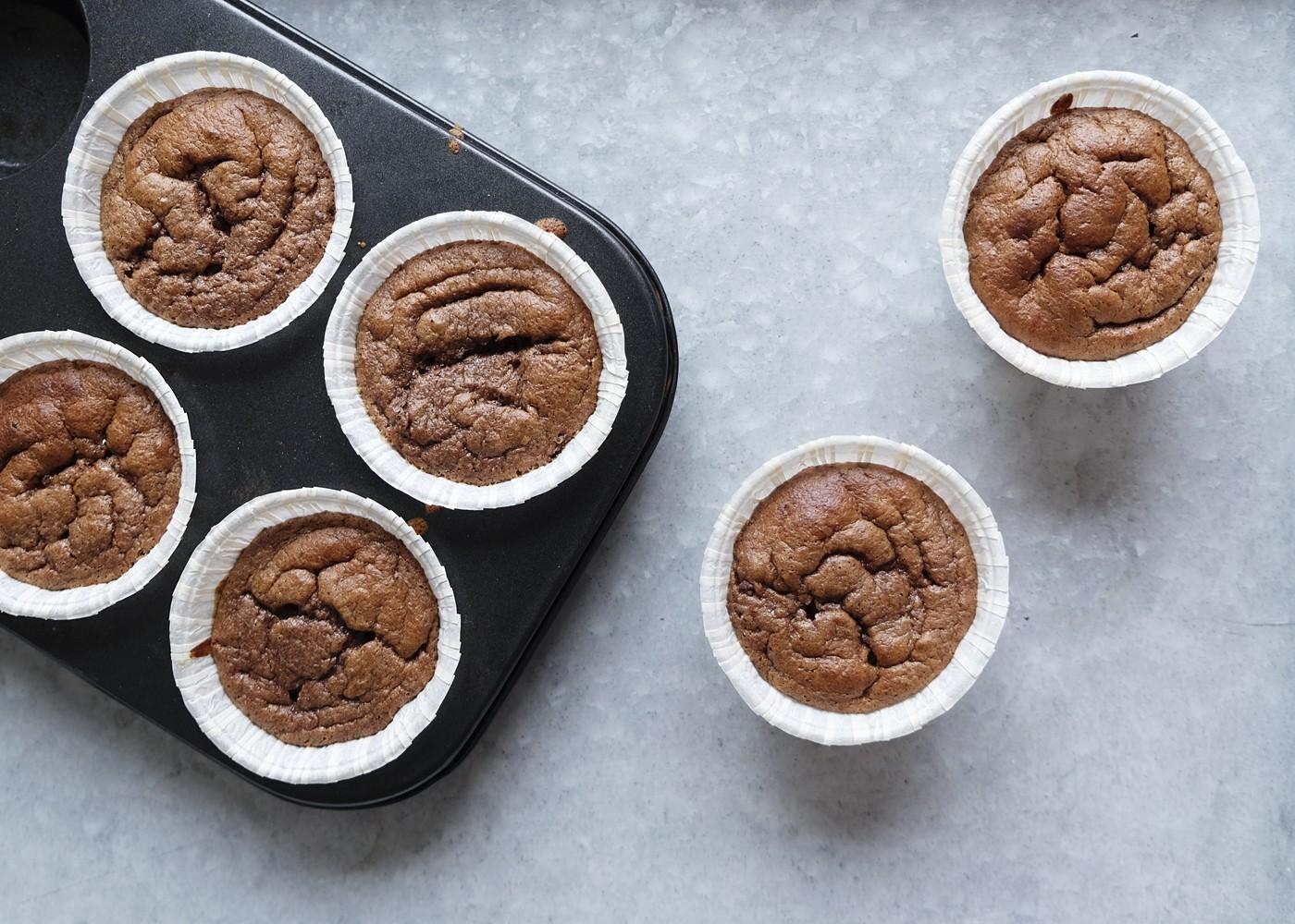 glutenfria sockerfria chokladmuffins