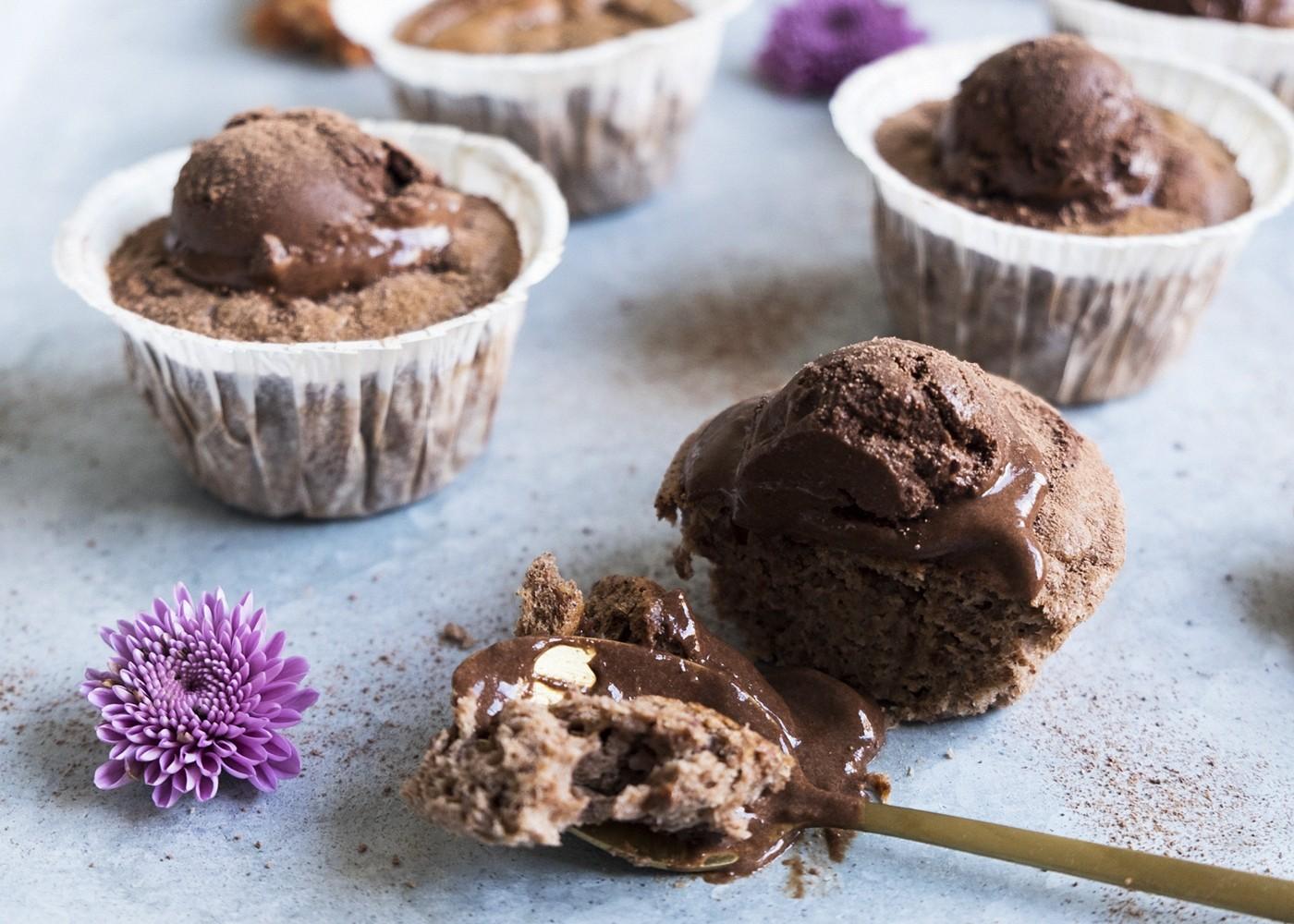 sockerfria chokladmuffins