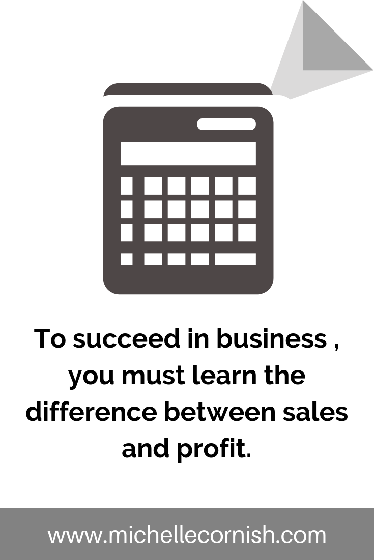 In business, it's important to understand the difference between sales and net profit.