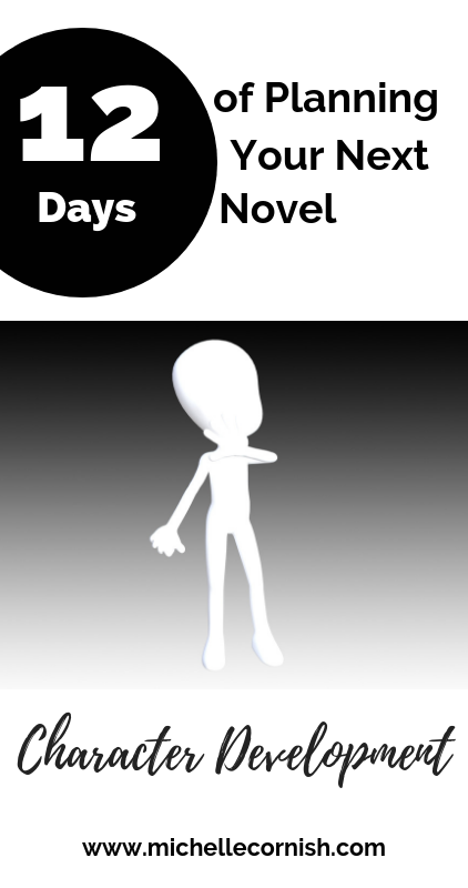 Next in my series - 12 Days of Planning Your Novel, I'm talking about character development.