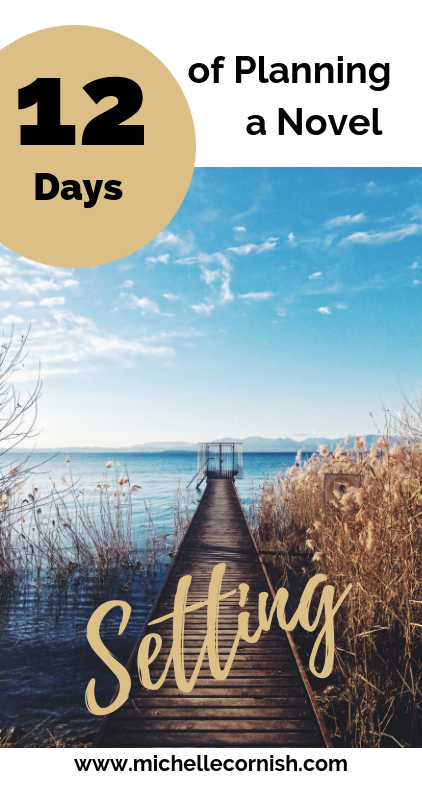 Up next in my 12 days of planning a novel series is setting. It's easy to forget to describe where things are happening. Here are three questions you can ask yourself to help describe setting.