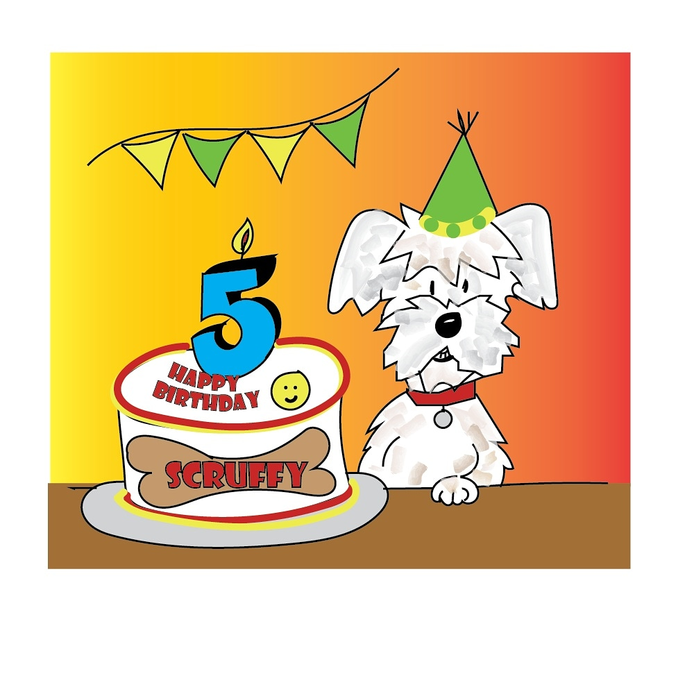 Scruffy Muffin Loses His Money - Scruffy turns 5!