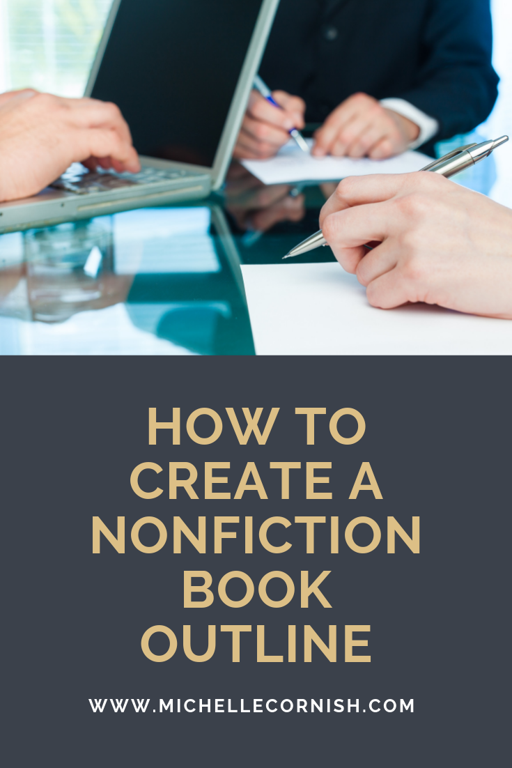 Create a nonfiction book outline in 4 easy steps. Using an outline can help you write faster!