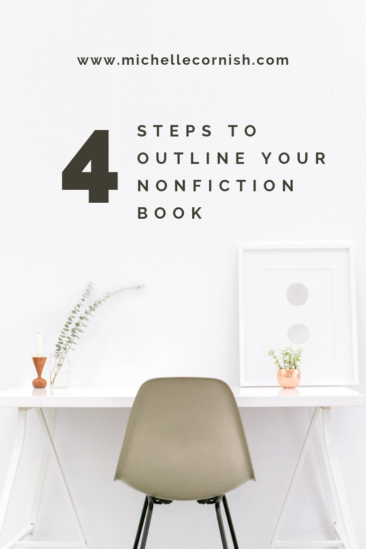 4 easy steps to creating a nonfiction book outline.