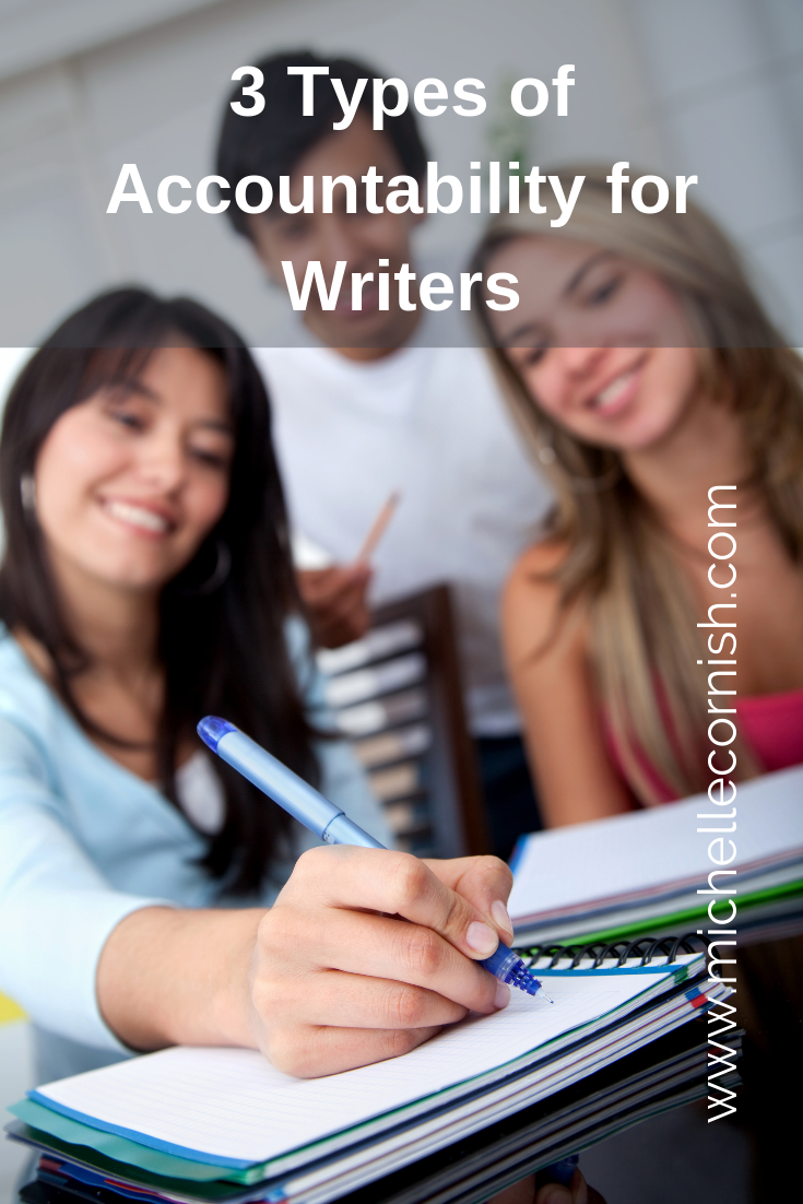 3 Types of Accountability for Writers: Writing groups, critique partners, and writing coaches.