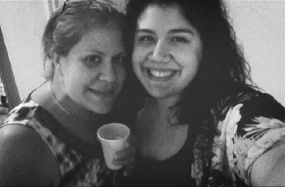 Biancania Romero (right) with mother Judith Espaillat, enjoying an event last summer. Photo courtesy of Biancania Romero.