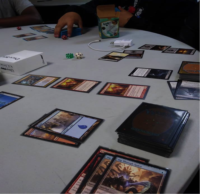 A game of Magic: The Gathering. Photo by Juan Vasquez.