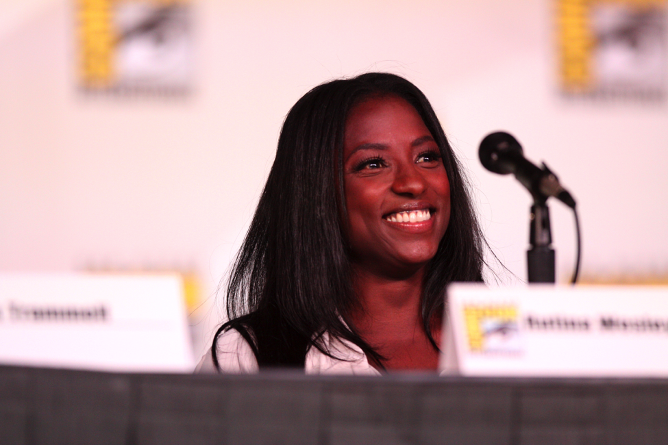 Rutina Wesley speaking at the 2012 San Diego Comic-Con International. Photo courtesy of Wikimedia Commons.