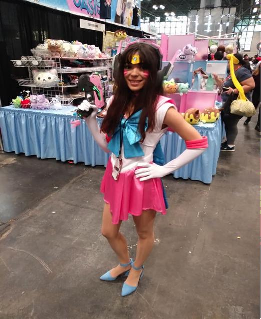 Lauren Robertson as Sailor D.Va from Overwatch and Sailor Moon.