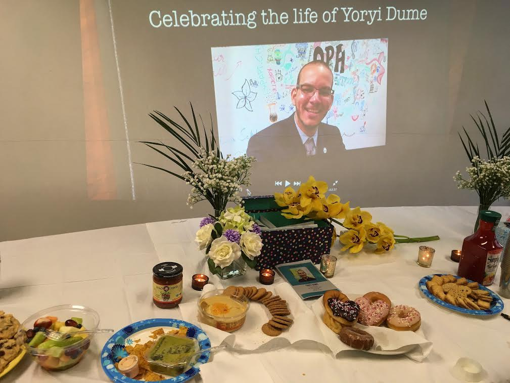 Memorial service for Yoryi Dume. Picture courtesy of Jennifer Mackenzie.