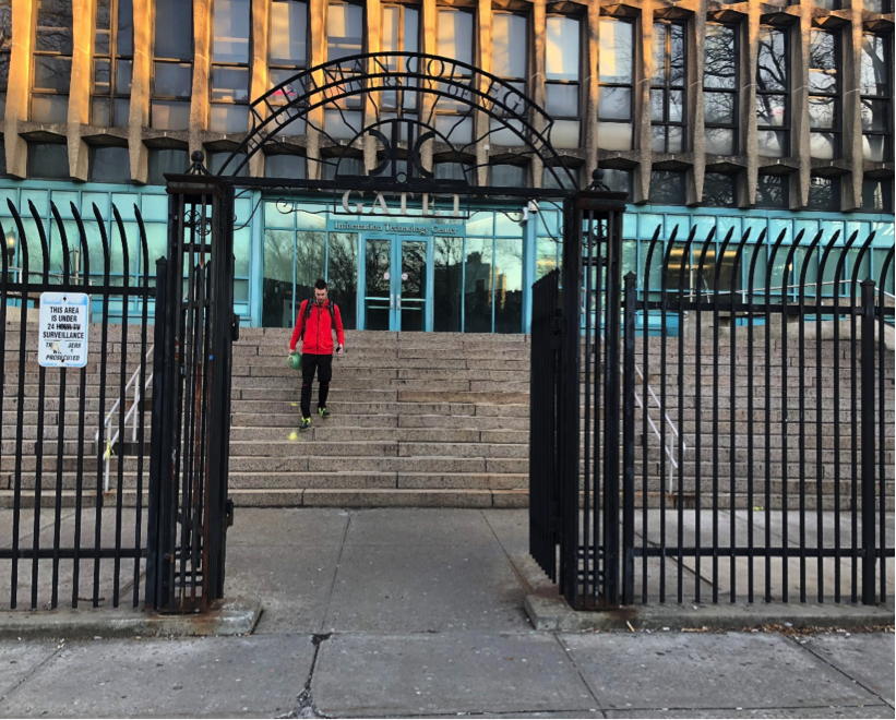 Unguarded entrance to Lehman. Photo by Hector Bello