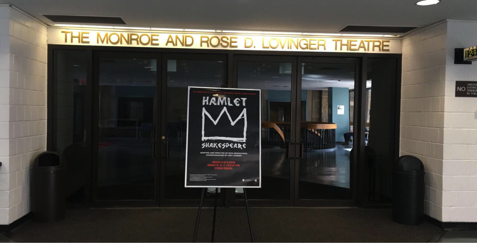 The Monroe and Rose D. Lovinger Theatre at Lehman College. Photo by Hector Bello.